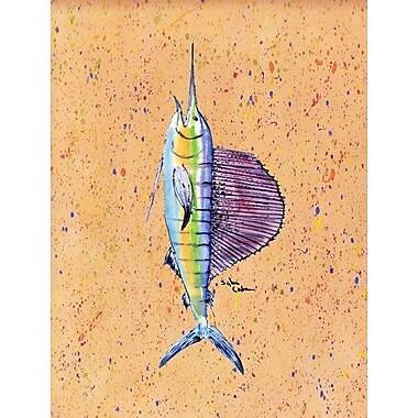 Caroline's Treasures Fish Sailfish 2-Sided Garden Flag