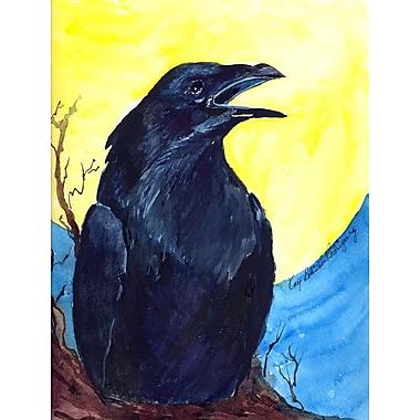Caroline's Treasures Black Bird 2-Sided Garden Flag
