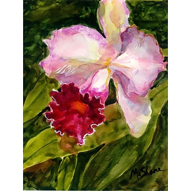 Caroline's Treasures Orchid 2-Sided Garden Flag