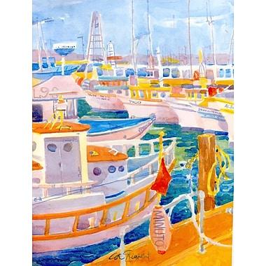 Caroline's Treasures Shrimp Boats 2-Sided Garden Flag
