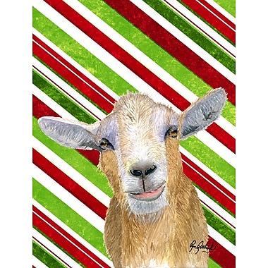 Caroline's Treasures Candy Cane Goat Christmas 2-Sided Garden Flag