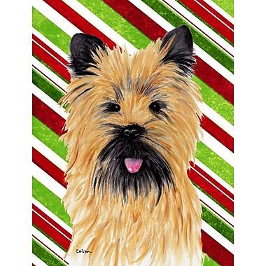 Caroline's Treasures Cairn Terrier Candy Cane Holiday Christmas 2-Sided Garden Flag