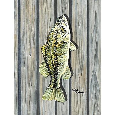 Caroline's Treasures Fish Bass 2-Sided Garden Flag