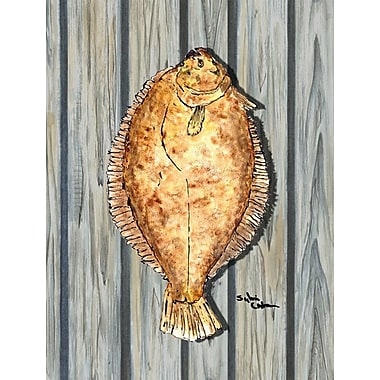 Caroline's Treasures Fish Flounder 2-Sided Garden Flag