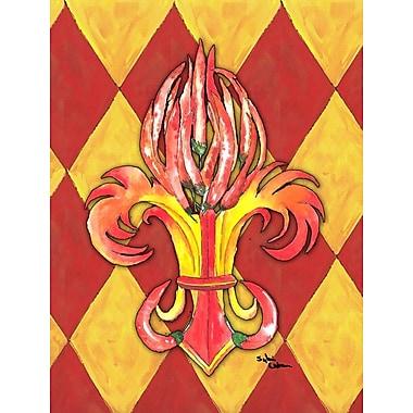 Caroline's Treasures Hot Peppers 2-Sided Garden Flag
