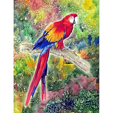 Caroline's Treasures Parrot Parrot Head 2-Sided Garden Flag