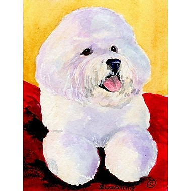 Caroline's Treasures Bichon Frise House Vertical Flag