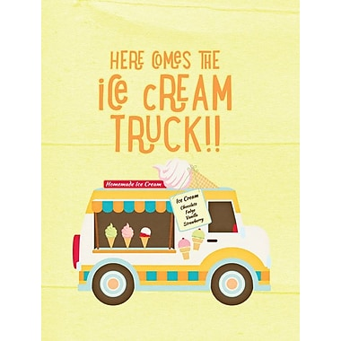 Caroline's Treasures Here Comes the Ice Cream Truck House Vertical Flag
