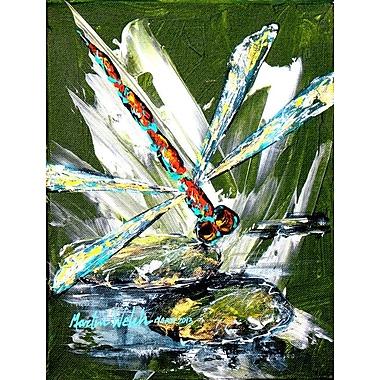 Caroline's Treasures Bug Eye Dragonfly 2-Sided Garden Flag