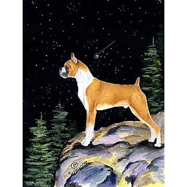 Caroline's Treasures Starry Night Boxer 2-Sided Garden Flag
