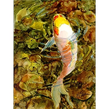 Caroline's Treasures Koi Fish House Vertical Flag