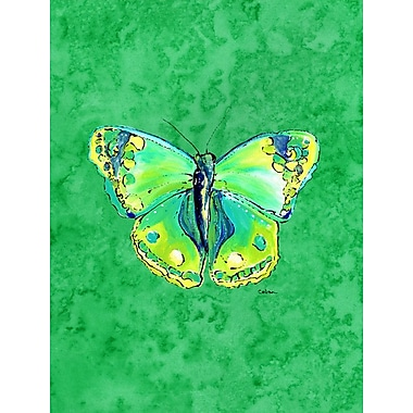 Caroline's Treasures Butterfly Green on Green House Vertical Flag
