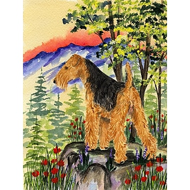 Caroline's Treasures Lakeland Terrier House Vertical Flag