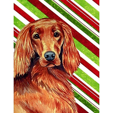 Caroline's Treasures Irish Setter Candy Cane Holiday Christmas 2-Sided Garden Flag