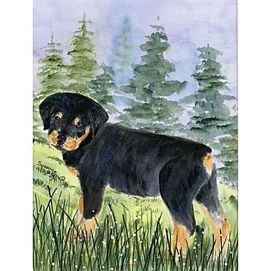Caroline's Treasures Rottweiler 2-Sided Garden Flag