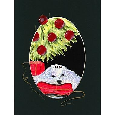 Caroline's Treasures Christmas Tree w/ Maltese 2-Sided Garden Flag