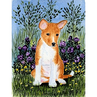Caroline's Treasures Basenji 2-Sided Garden Flag