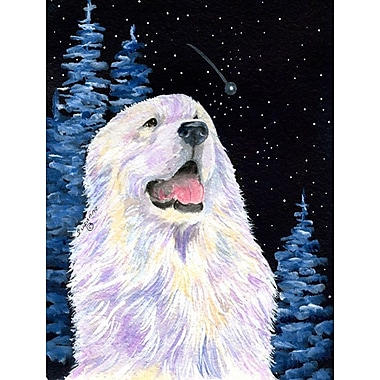 Caroline's Treasures Starry Night Great Pyrenees 2-Sided Garden Flag