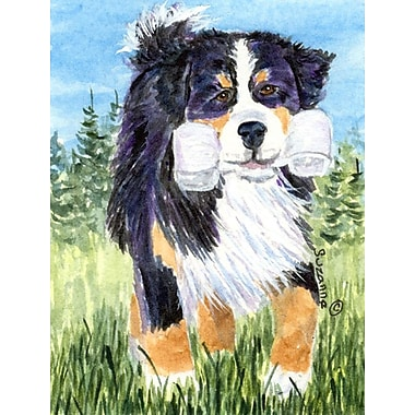 Caroline's Treasures Bernese Mountain Dog 2-Sided Garden Flag
