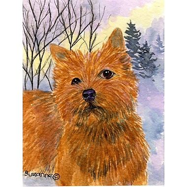 Caroline's Treasures Norwich Terrier House Vertical Flag