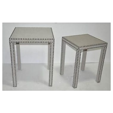 TLC Home Hyacynth 2 Piece End Table