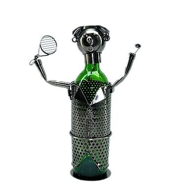 Three Star Tennis Player 1 Bottle Tabletop Wine Rack