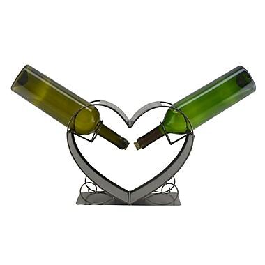 Three Star Heart 2 Bottle Tabletop Wine Rack