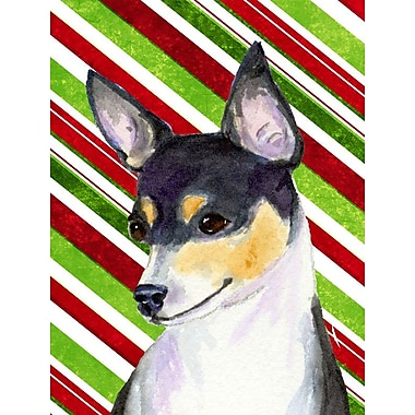 Caroline's Treasures Chihuahua Candy Cane Holiday Christmas 2-Sided Garden Flag