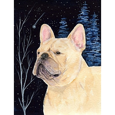 Caroline's Treasures Starry Night French Bulldog House Vertical Flag