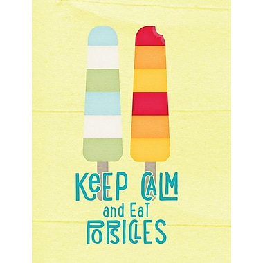 Caroline's Treasures Keep calm and eat popsicles 2-Sided Garden Flag