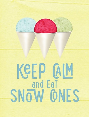 Caroline's Treasures Keep calm and eat snow cones 2-Sided Garden Flag