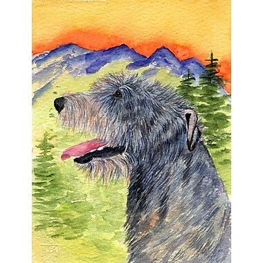 Caroline's Treasures Irish Wolfhound House Vertical Flag