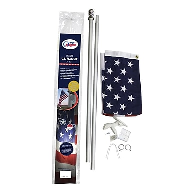 Olympus Flag and Banner Traditional Flag and Flagpole Set