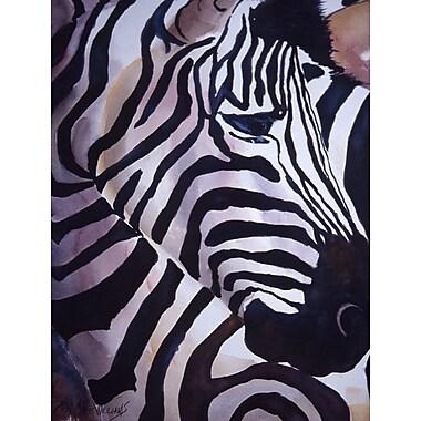 Caroline's Treasures Zebra Head 2-Sided Garden Flag