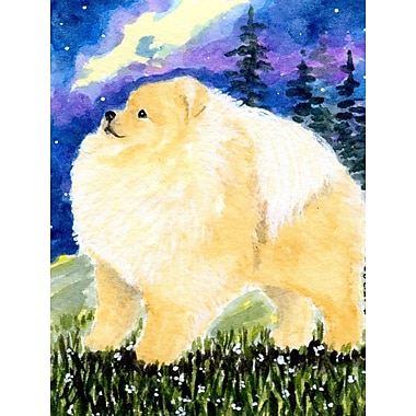 Caroline's Treasures Pomeranian 2-Sided Garden Flag