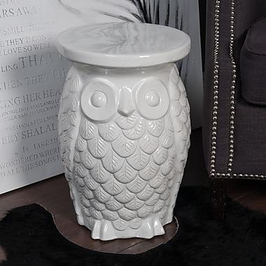 Winward Designs Ceramic Owl Garden Stool