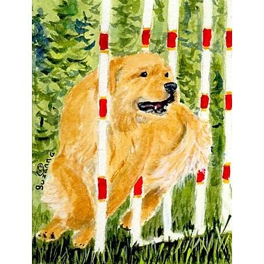 Caroline's Treasures Golden Retriever 2-Sided Garden Flag