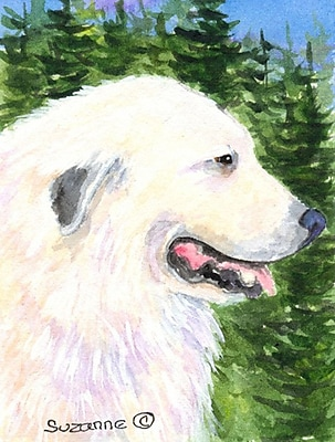 Caroline's Treasures Great Pyrenees 2-Sided Garden Flag