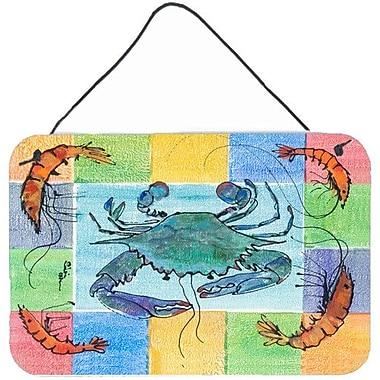 Caroline's Treasures Crab by Sylvia Corban Painting Print Plaque