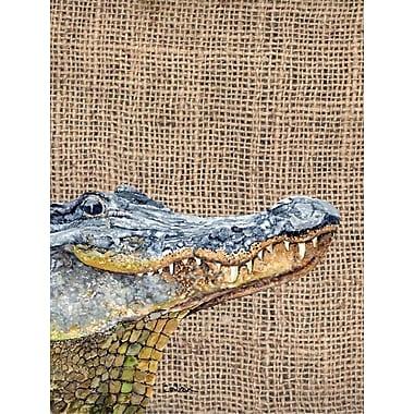 Caroline's Treasures Alligator House Vertical Flag
