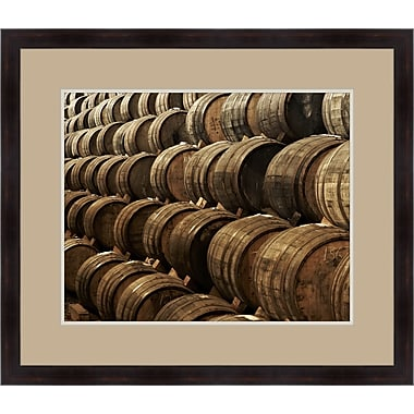 Melissa Van Hise Casks in the Winery I Framed Photographic Print