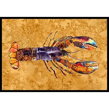 Caroline's Treasures Lobster Doormat; 1'6'' x 2' 3''