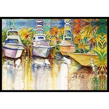 Caroline's Treasures Heron and Deep Sea Fishing Boats Doormat; Rectangle 1'6'' x 2' 3''