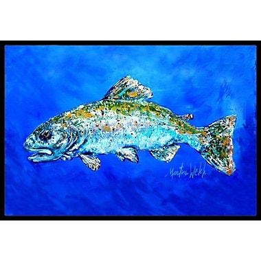 Caroline's Treasures Fish Headed Downstream Doormat; Rectangle 1'6'' x 2' 3''