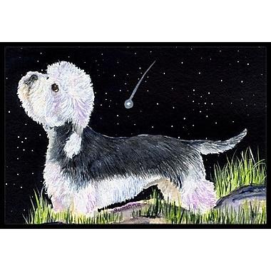 Caroline's Treasures Starry Night Dandie Dinmont Terrier Doormat; Rectangle 1'6'' x 2' 3''