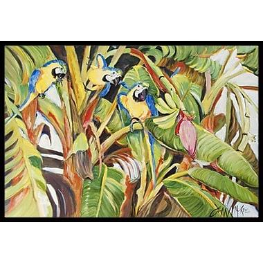 Caroline's Treasures Three Parrots Doormat; Rectangle 2' x 3'