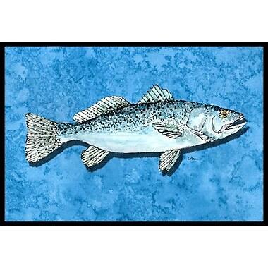 Caroline's Treasures Fish - Trout Doormat; Rectangle 2' x 3'