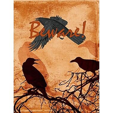 Caroline's Treasures Beware of the Black Crows Halloween 2-Sided Garden Flag