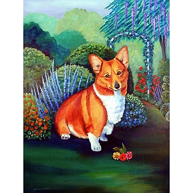 Caroline's Treasures Pembroke Corgi 2-Sided Garden Flag