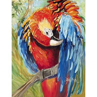 Caroline's Treasures Red Parrot 2-Sided Garden Flag